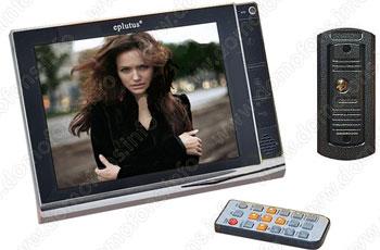 Цветной видеодомофон 8 дюймов, модель EP-2291. Домофон с записью и с датчиком движения.